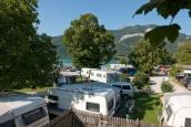 Romantic Camping Wolfgangsee Linde beach
