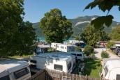 Romantic Camping Wolfgangsee Linde beach