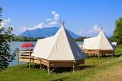 Camping King Bed Lake
